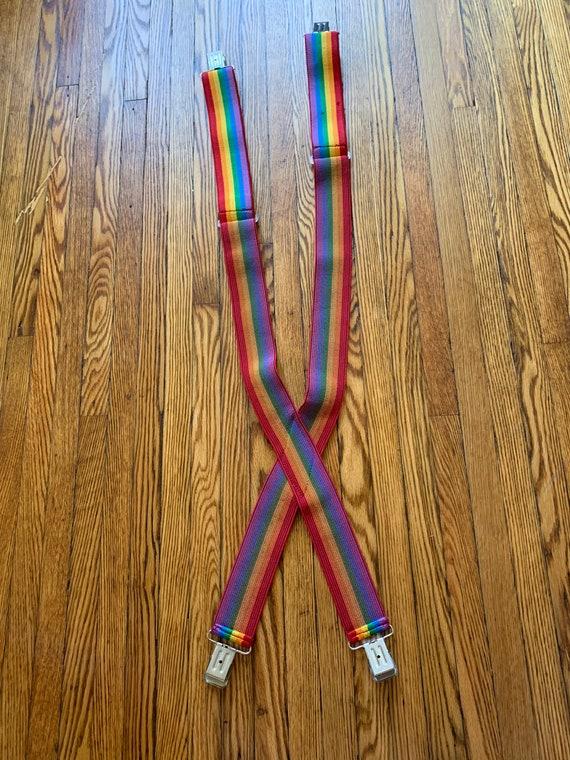 Vintage Rainbow Suspenders Adjustable Rainbow Str… - image 8