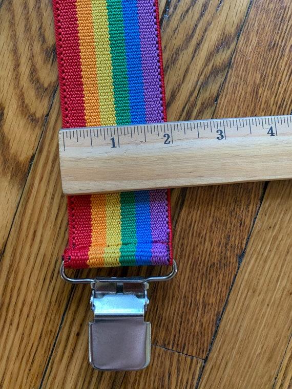 Vintage Rainbow Suspenders Adjustable Rainbow Str… - image 4