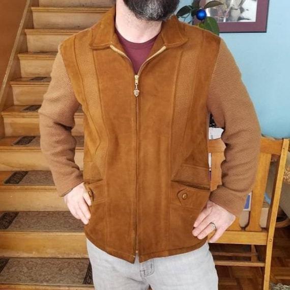 Rare Vintage 60s MCM McGregor Suede Sweater Jacket