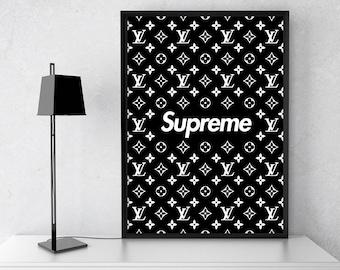 Supreme Wall Art Supreme Louis Vuitton Poster Supreme Print Supreme LV  Poster Fashion Wall Art Supreme Art Supreme Black Logo Supreme Decor 9ce981da15a39