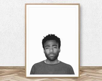 04709eb1c5a Childish Gambino Poster Childish Gambino Print Hip Hop Art Rapper Print Donald  Glover Poster Rap Merch Childish Gambino Wall Art Rapper Art