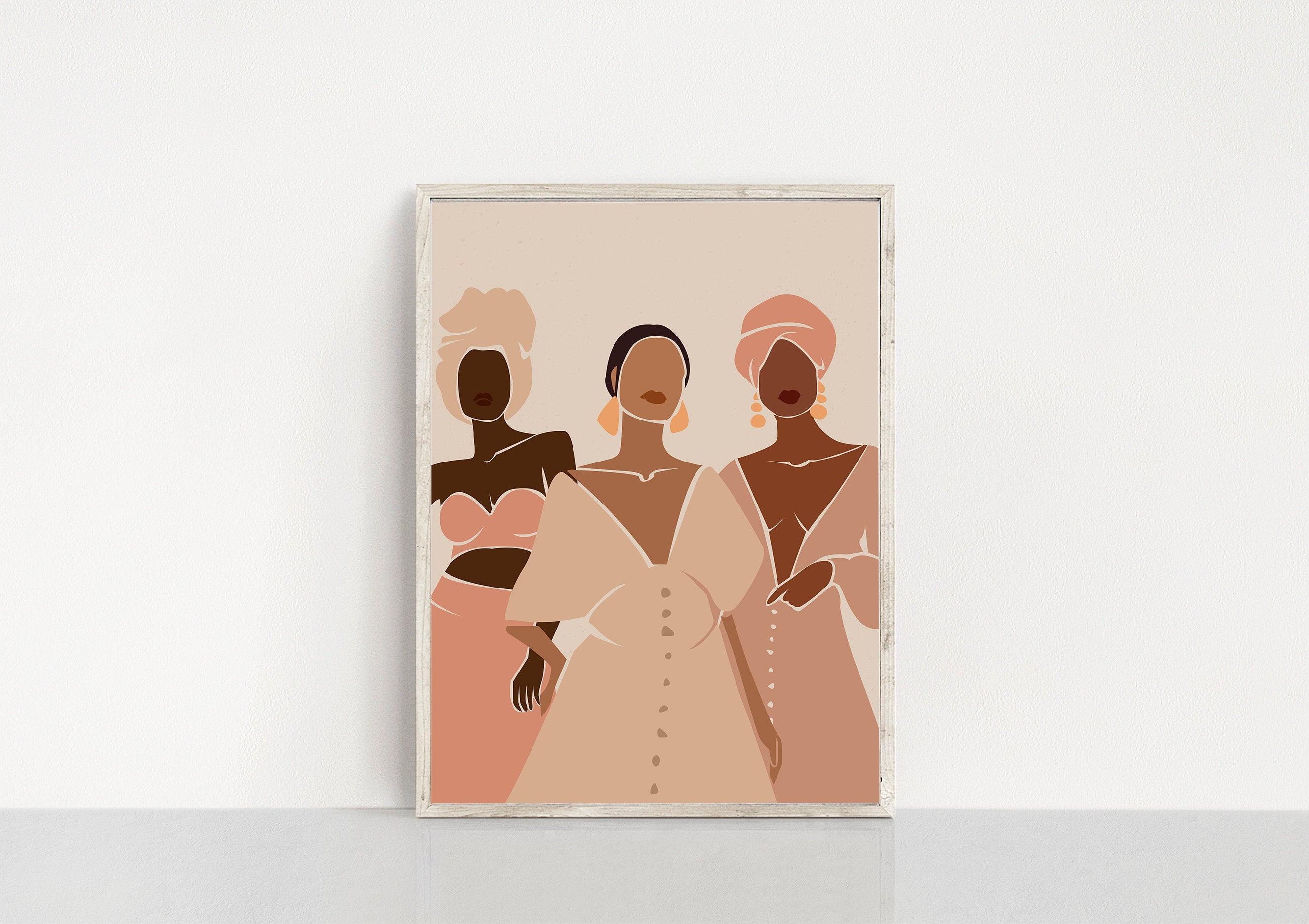 Modern Art African Woman, Wall Decor Digital Art Black Woman Art Women Art Illustration Art Abstract Art,Printable Art Home Decor