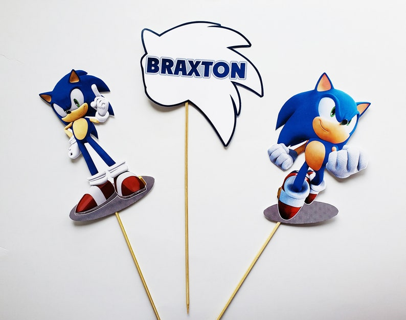 Sonic the Hedgehog Centerpieces Sonic Birthday Decoration Sonic Birthday Party