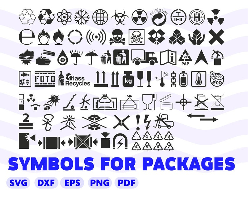 Post Symbols Svg Delivery Icons Svg Packages Box Svg Sign Etsy