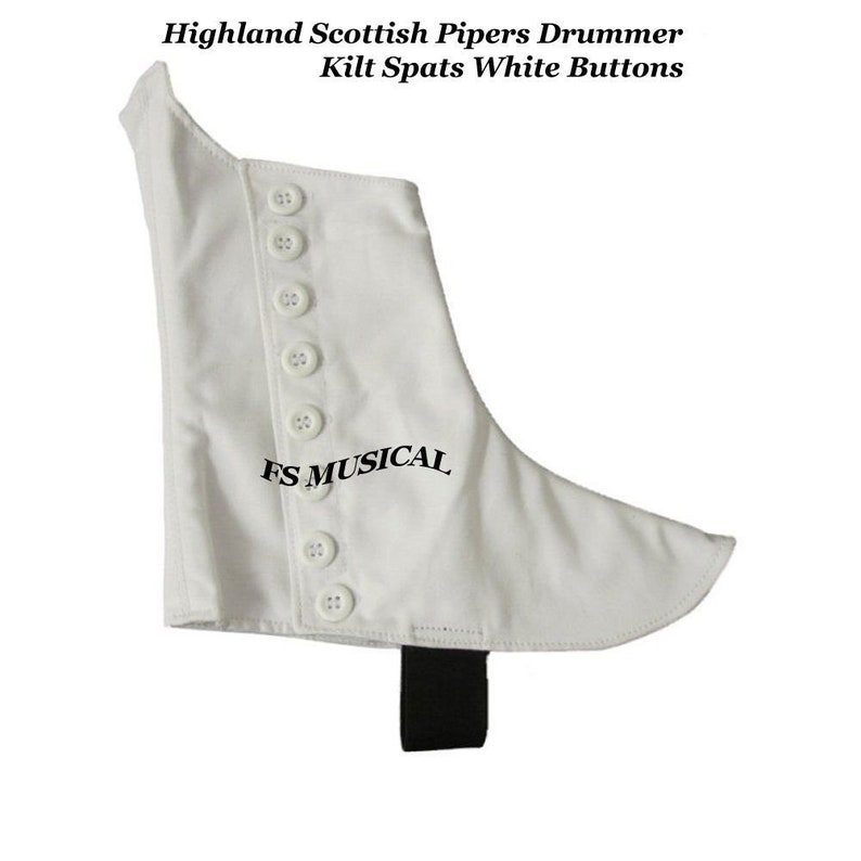 New Kilt Spats Highland Pipers Drummer Scottish Kilt Spat 8 Buttons