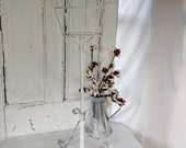 Amazing Vintage Metal Iron Rusty Plant Stand White Shabby Chic Plant Stand