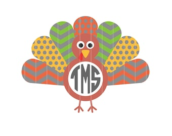 c0174cf0 Turkey Monogram Svg, Turkey Svg, Turkey Clip Art, Turkey Graphics,  Thanksgiving Svg, Thanksgiving Monogram Svg, Svg, Svg Files for Cricut