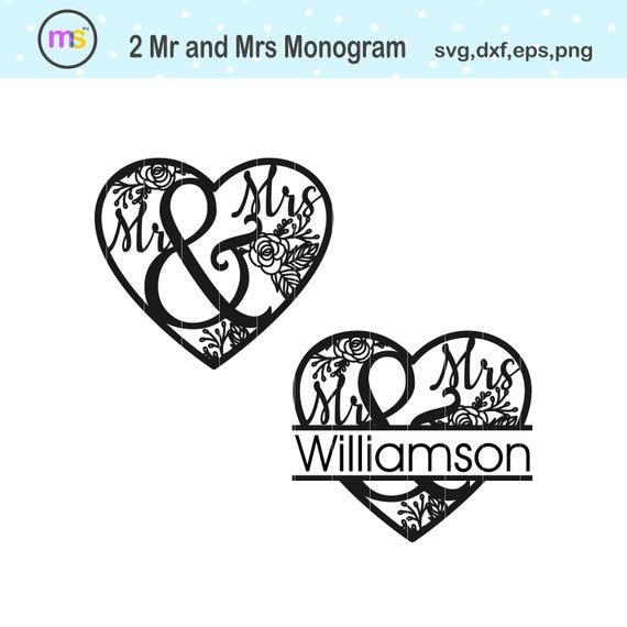 Mr And Mrs Split Monogram Svg Mr And Mrs Monogram Svg Mr And Mrs Svg Mr And Mrs Clip Art Mr And Mrs Graphics Mr And Mrs Cut File Svg