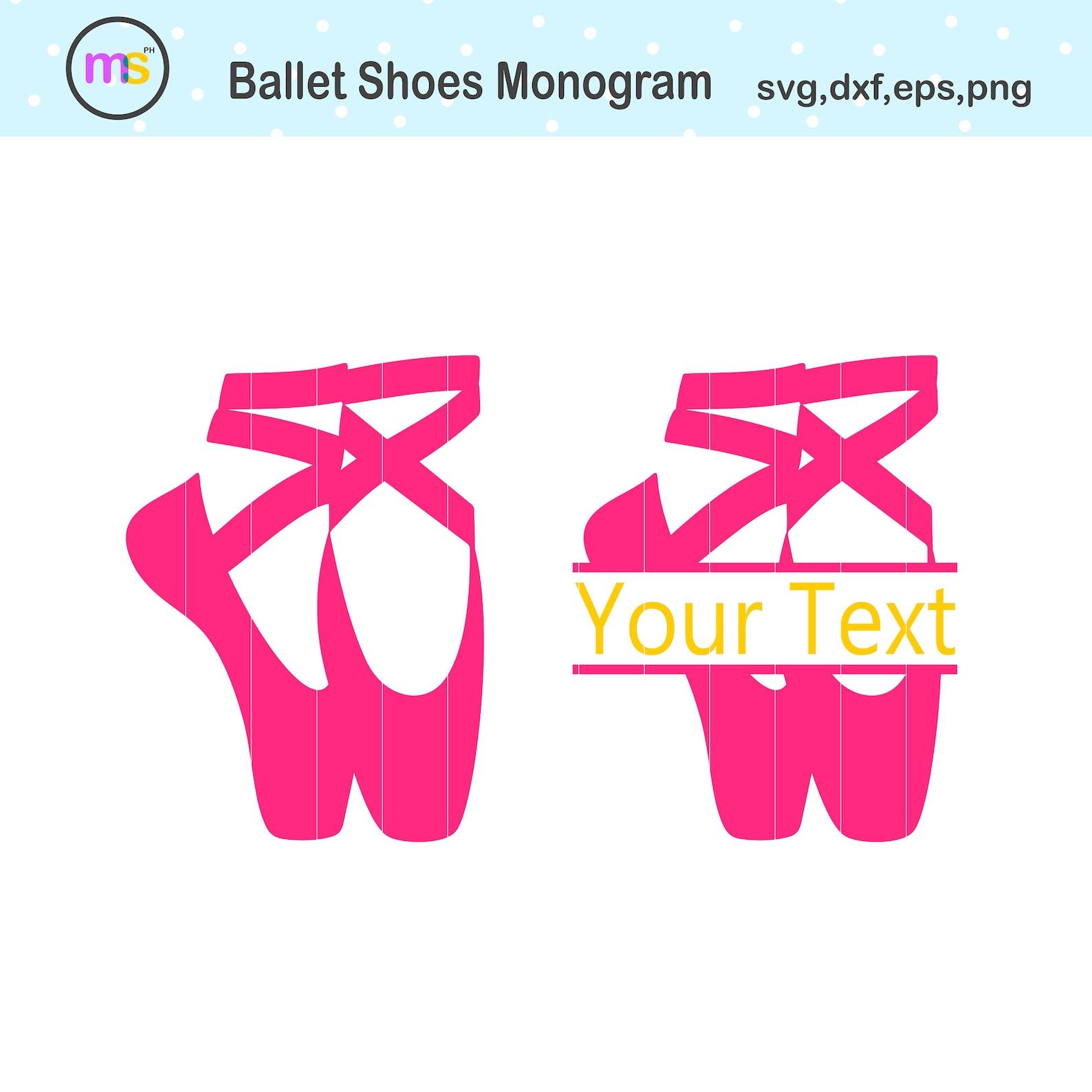 ballet monogram svg, ballerina shoes svg, ballet shoes monogram svg, ballet svg, ballerina svg, ballet shoes clip art, ballerina