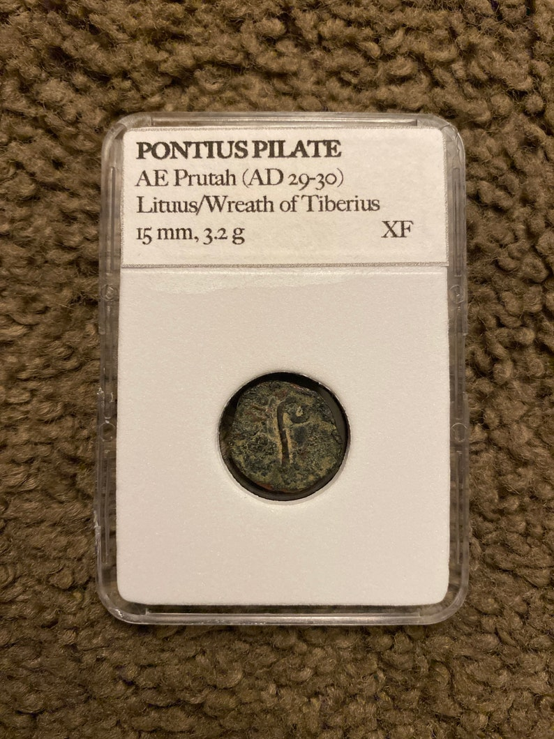 Pontius Pilate Coin 32 AD struck DURING Lifetime of JESUS image 0