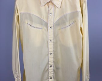 5285ba863a116 Men s yellow western shirt