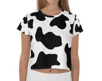 d31eb8a9a23efd Cow print All-Over Print Crop Tee