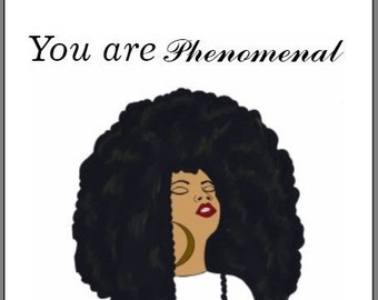 Greeting card for women blank phenomenal woman note card