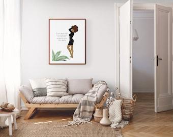 Digital Download fashion illustration quote art print