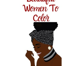Beautiful women to color coloring book, adult coloring book, ladies to color, coloring pages, digital coloring book