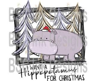 I Want A Hippopotamus For Christmas Sheet Music.Want A Hippopotamus Etsy