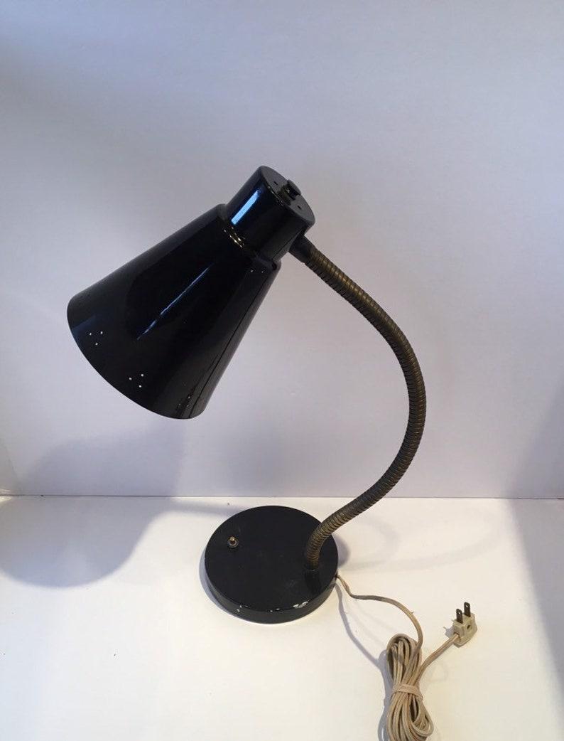 Vintage Industrial Black Metal Desk Lamp