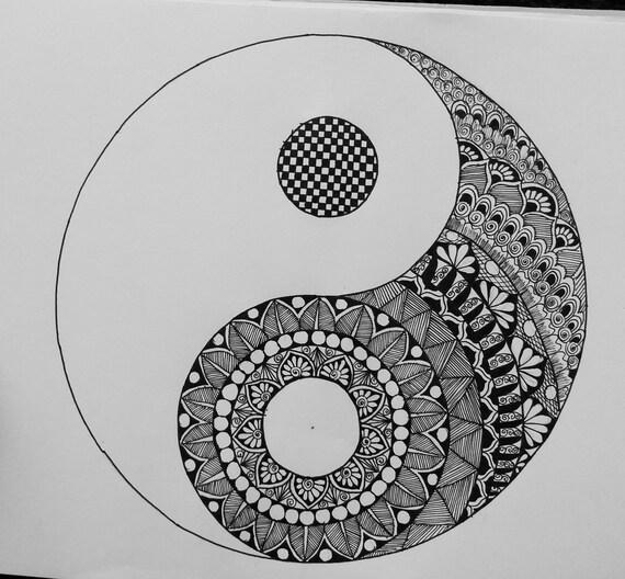 Yinyang Mandala Etsy