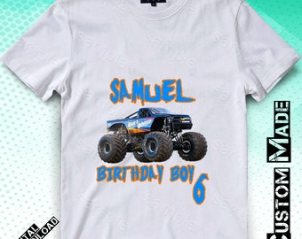 081e37c6a Monster Truck Iron On Transfer, Monster Truck Iron On Transfer DIY Shirt, Monster  Truck Birthday Shirt, Personalize, 300dpi, Digital Files