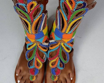 ON SALE,! Summer African sandals,gladiators sandals women beaded gladiators,gift for her,  sandals, gift gladiators,christmas gift for her