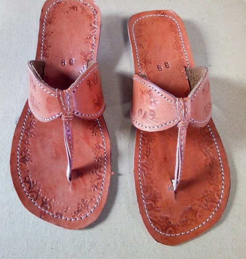 Christmas gift for him. Brown men leather sandals