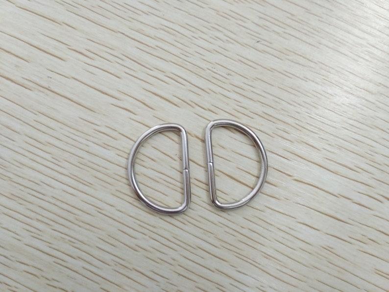 """Metal D Ring 1/""""  Nickel Plated Loop Ring"""