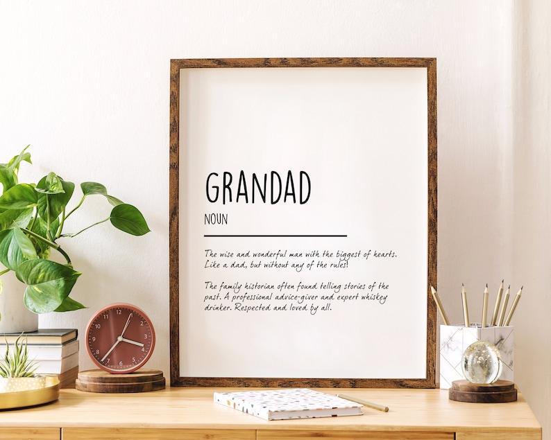Grandad/Papa Definition Poster