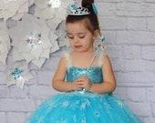 Frozen Elsa Inspired Dress, Elsa Tutu, Toddler Girl Handmade Tutu Dress, Elsa Birthday Party, Elsa Costume, Halloween Costume