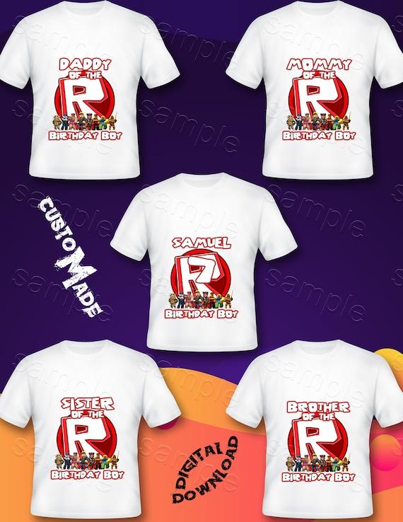 Roblox Family Iron On Transfer Roblox Family Shirt Roblox Etsy