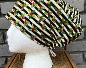 Christmas Trees Metallic Ear saver scrub cap