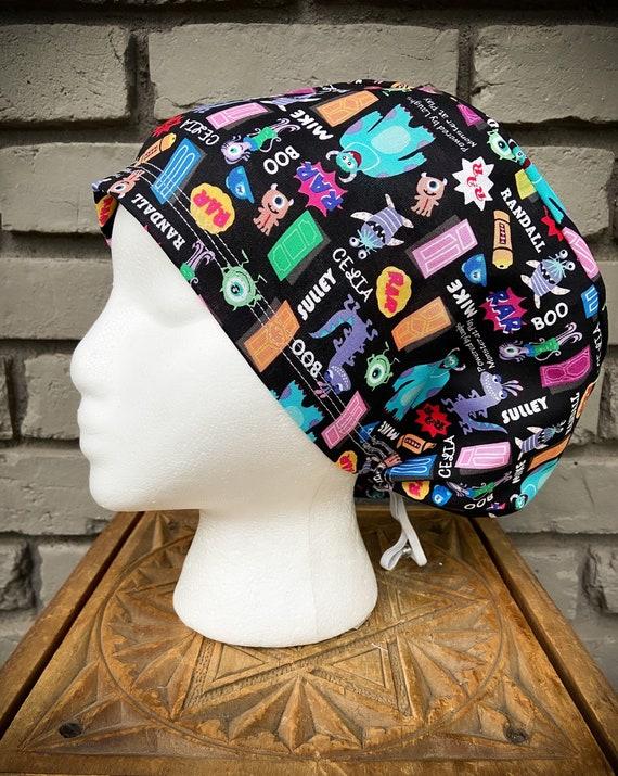 Disney Scrub Cap, Surgical Scrub Cap, Scrub Cap for Woman, Scrub Hats, Euro Scrub Cap for Woman with Toggle, Monsters Inc, Inspired