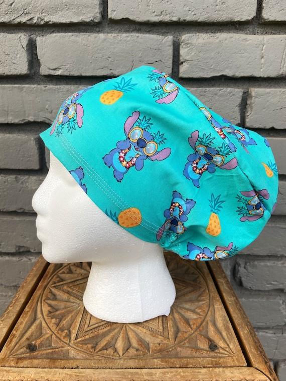 Disney Scrub Cap, Lilo and Stitch, Surgical Scrub Cap, Scrub Caps for Women, Scrub Hats, Euro Pixie Toggle Hat, Inspired