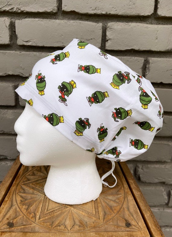 Marvin the Martian Scrub Cap, Surgical Scrub Cap, Scrub Cap for Woman, Scrub Hats, Euro Scrub Cap for Woman with Toggle,