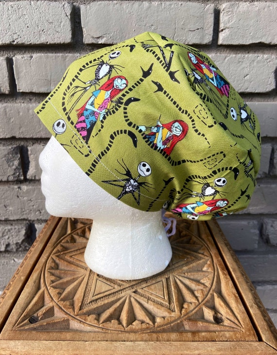 Disney Scrub Cap, Nightmare Before Christmas, Surgical Scrub Cap, Scrub Caps for Women, Scrub Hats, Euro Pixie Toggle Hat