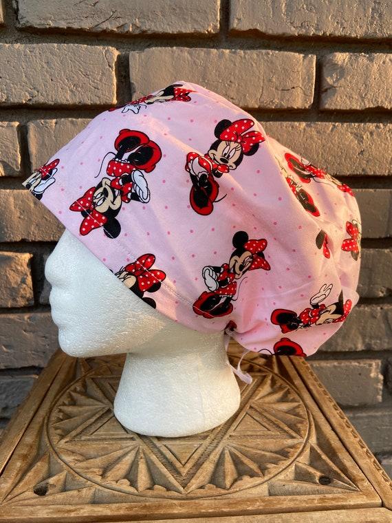 Disney Scrub Cap, Minnie Mouse, Surgical Scrub Cap, Scrub Caps for Women, Scrub Hats, Euro Pixie Toggle Hat