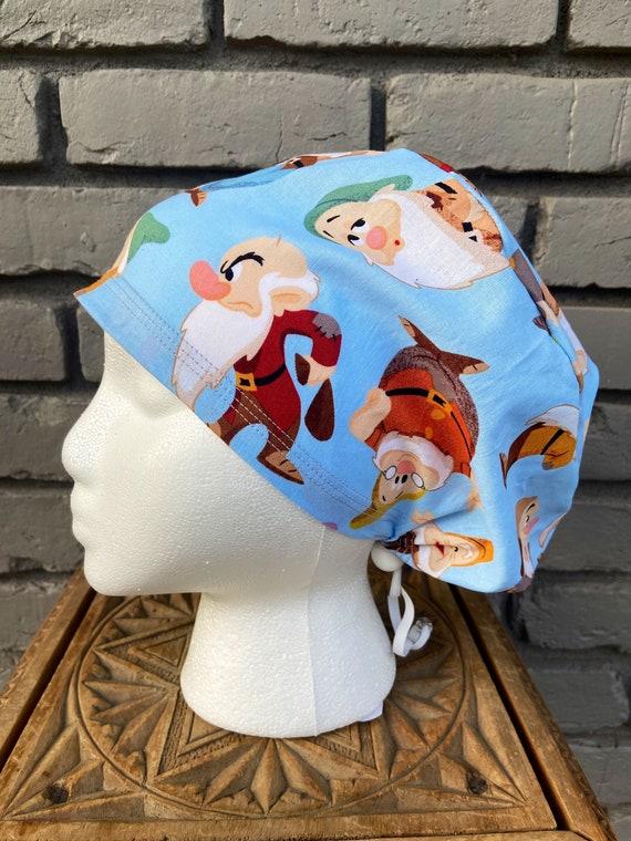 Disney Scrub Cap, Snow White, 7 Dwarves, Surgical Scrub Cap, Scrub Caps for Women, Scrub Hats, Euro Pixie Toggle Hat, Inspired