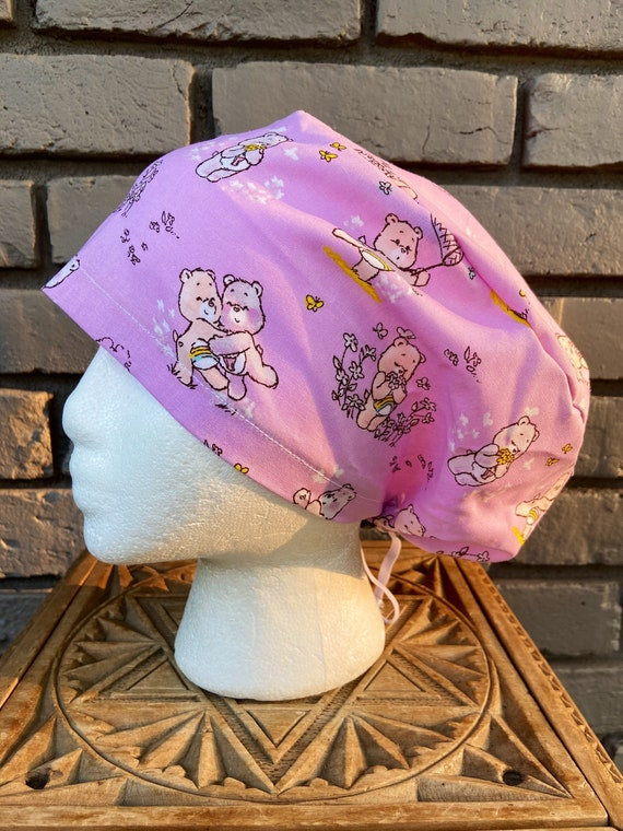 Care Bears Scrub Cap, Surgical Scrub Cap, Scrub Caps for Women, Scrub Hats, Euro Pixie Toggle Hat