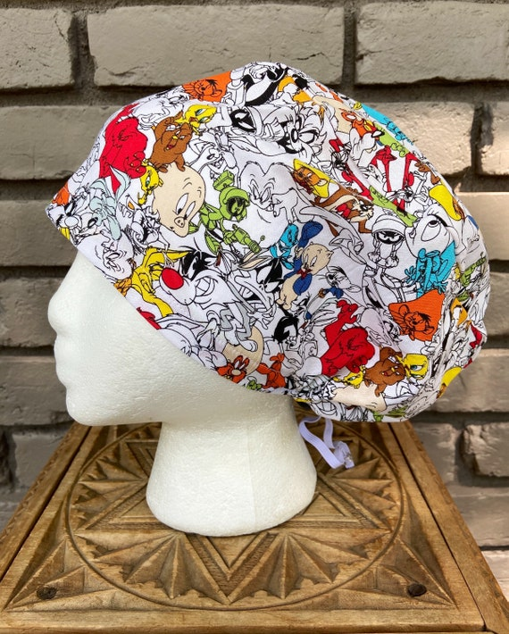 Looney Tunes,  Surgical Scrub Cap, Scrub Caps for Women, Scrub Hats, Euro Pixie Toggle Hat