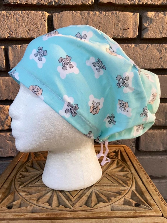 Disney Scrub Cap,  Blue Lady and the Tramp,  Surgical Scrub Cap, Scrub Caps for Women, Scrub Hats, Euro Pixie Toggle Hat