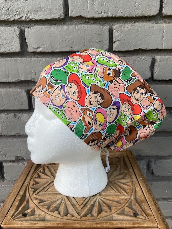 Disney Scrub Cap, Surgical Scrub Cap, Scrub Cap for Woman, Scrub Hats, Euro Scrub Cap for Woman with Toggle,Toy Story, Buzz, Woody, inspired