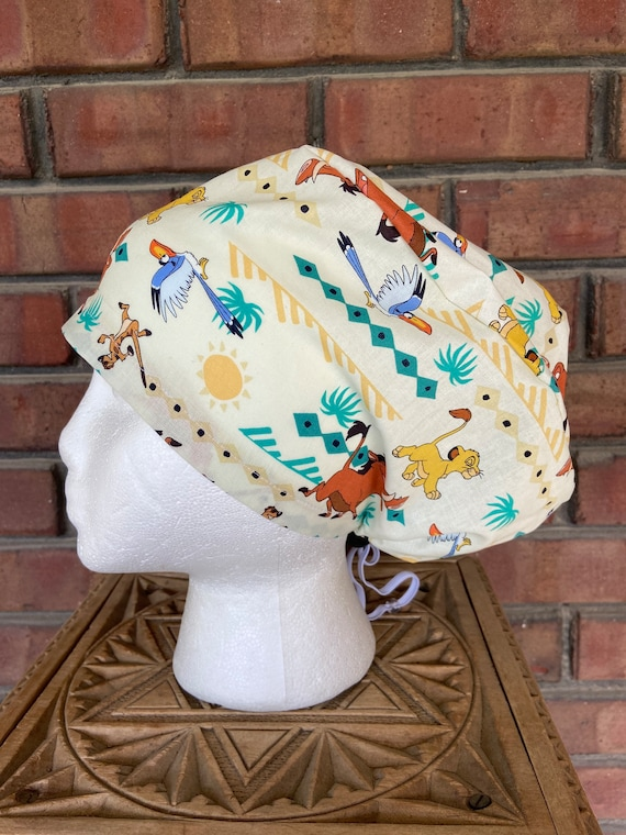 Disney The Lion King Print Handmade Surgical Scrub Cap with Free Shipping
