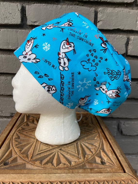 Disney Scrub Cap, Frozen Olaf, Surgical Scrub Cap, Scrub Caps for Women, Scrub Hats, Euro Pixie Toggle Hat