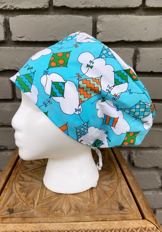 Kite Scrub Cap, Surgical Scrub Cap, Scrub Cap for Woman, Scrub Hats, Euro Scrub Cap for Woman with Toggle,