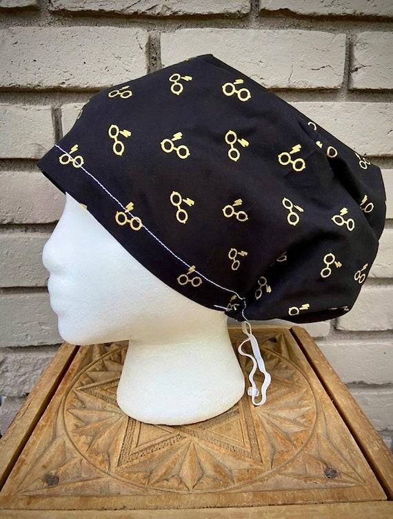 Potter Scrub Cap, Surgical Scrub Cap, Scrub Cap for Woman, Scrub Hats, Euro Scrub Cap for Woman with Toggle, Inspired