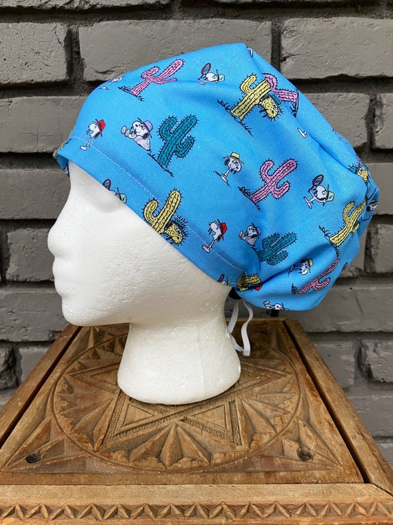 Peanuts Snoopy Print Handmade Surgical Scrub Cap with Free Shipping