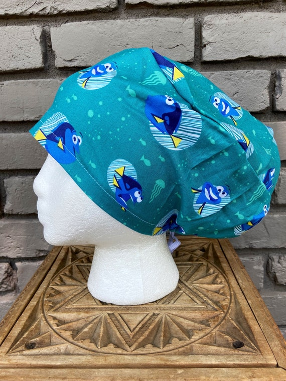 Disney Scrub Cap, Finding Nemo Dory, Surgical Scrub Cap, Scrub Caps for Women, Scrub Hats, Euro Pixie Toggle Hat