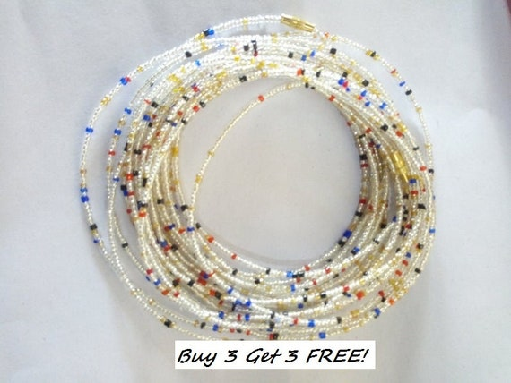 ON SALE 10 Waist beads body chain  belly chain  shrinking chain with clasps