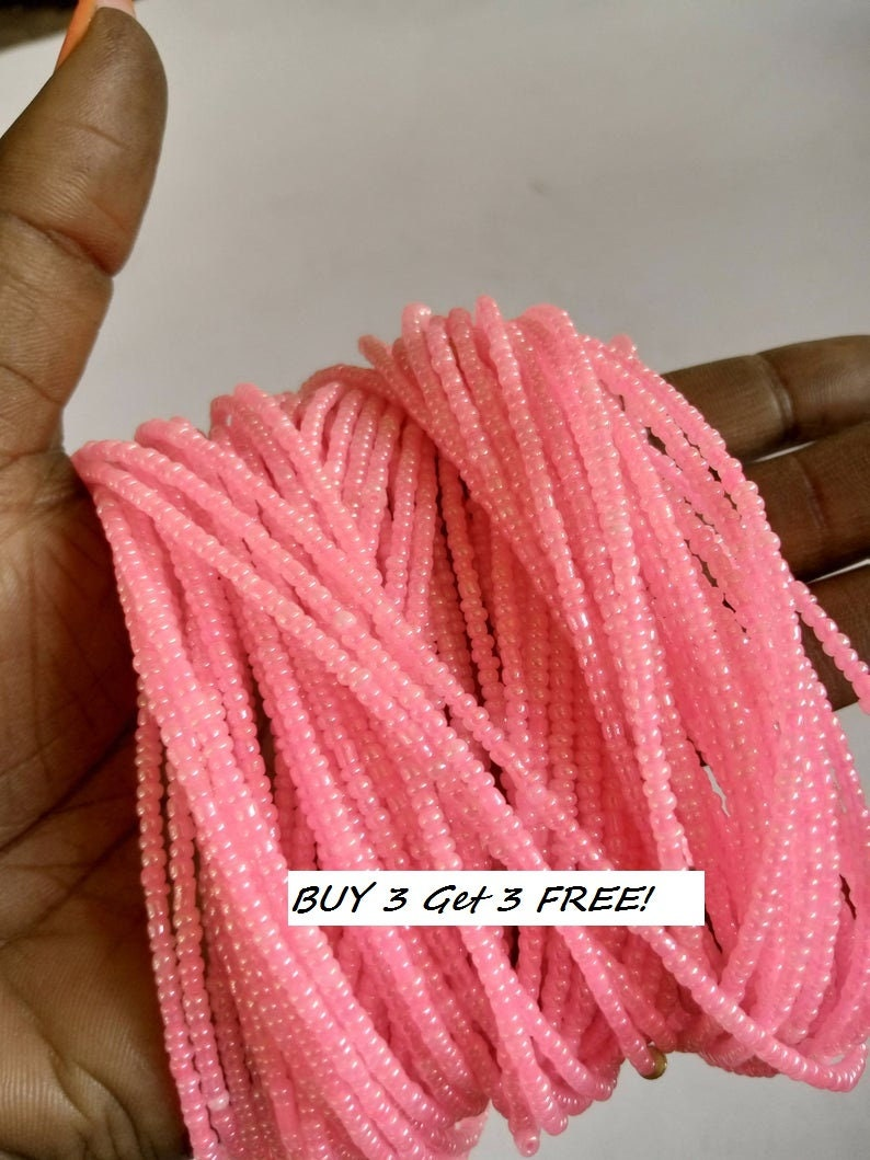 ON SALE Pink  Statement  waist beads body beads African Jewelry body chains with clasps