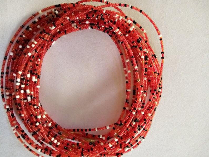 ON SALE African body beads waist beads,body jewelry beach wear body chains with clasps
