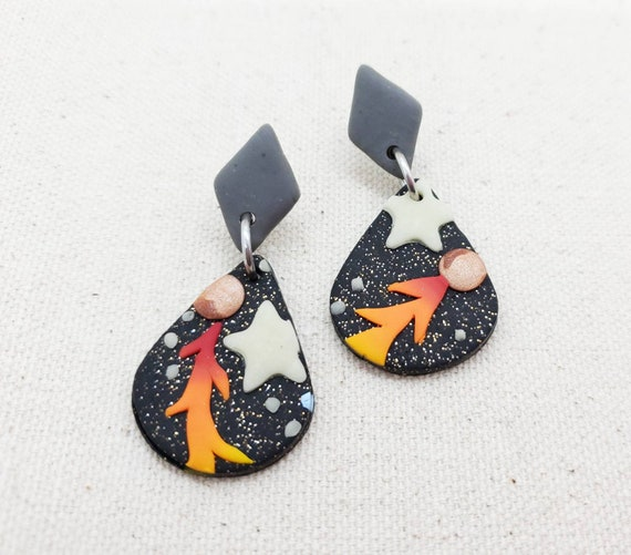 Glow in the Dark Clay Earrings!